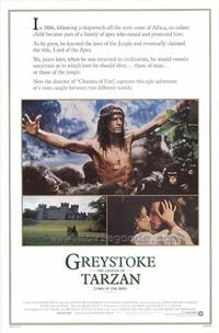 Greystoke: The Legend of Tarzan, Lord of the Apes - 27 x 40 Movie Poster - Style A