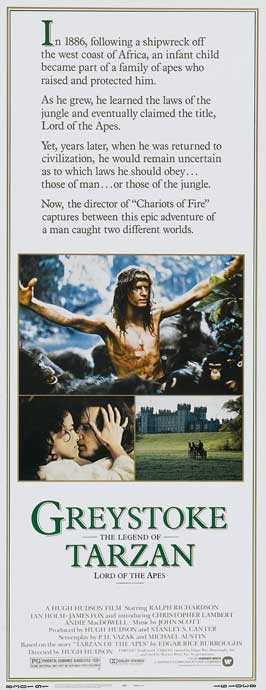 Greystoke: The Legend of Tarzan, Lord of the Apes - 14 x 36 Movie Poster - Insert Style A