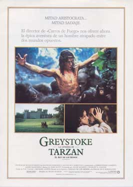 Greystoke: The Legend of Tarzan, Lord of the Apes - 11 x 17 Movie Poster - Spanish Style A