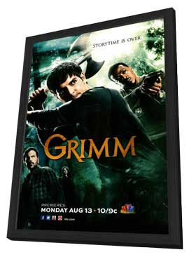 Grimm (TV) - 11 x 17 TV Poster - Style B - in Deluxe Wood Frame