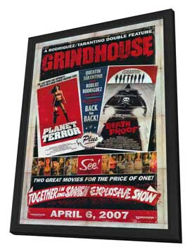 Grindhouse - 11 x 17 Movie Poster - Style D - in Deluxe Wood Frame