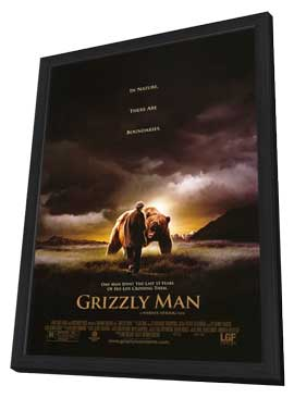 Grizzly Man - 27 x 40 Movie Poster - Style A - in Deluxe Wood Frame