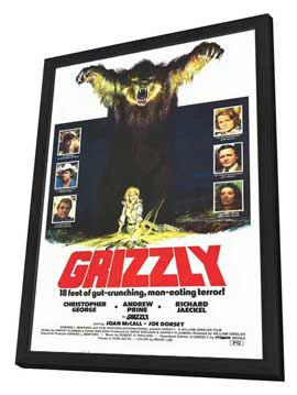 Grizzly - 27 x 40 Movie Poster - Style A - in Deluxe Wood Frame