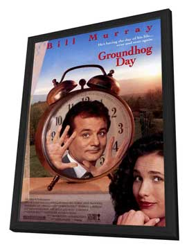 Groundhog Day - 11 x 17 Movie Poster - Style A - in Deluxe Wood Frame