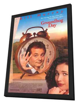 Groundhog Day - 27 x 40 Movie Poster - Style A - in Deluxe Wood Frame
