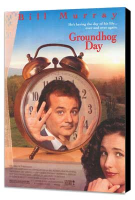 Groundhog Day - 27 x 40 Movie Poster - Style A - Museum Wrapped Canvas