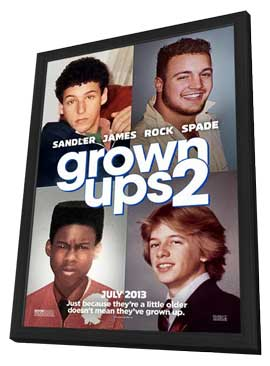 Grown Ups 2 - 11 x 17 Movie Poster - Style A - in Deluxe Wood Frame