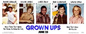 Grown Ups - 11 x 17 Movie Poster - Style A