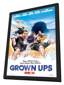 Grown Ups - 27 x 40 Movie Poster - Style A - in Deluxe Wood Frame