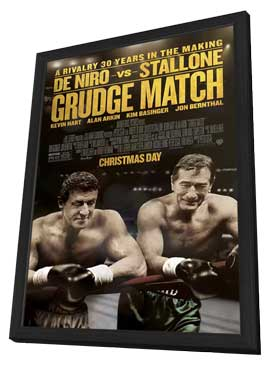 Grudge Match - 11 x 17 Movie Poster - Style B - in Deluxe Wood Frame