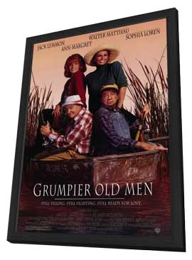 Grumpier Old Men - 11 x 17 Movie Poster - Style A - in Deluxe Wood Frame