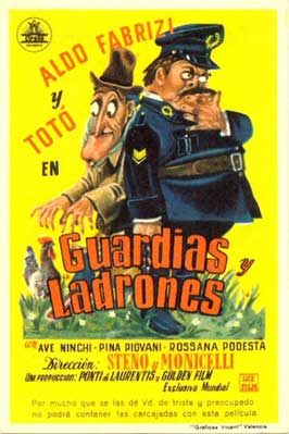 Guardie e ladri - 11 x 17 Movie Poster - Spanish Style A