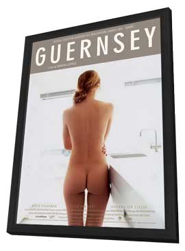 Guernsey - 27 x 40 Movie Poster - Dutch Style A - in Deluxe Wood Frame