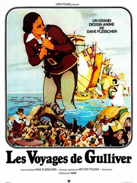 Gulliver's Travels - 11 x 17 Movie Poster - French Style A