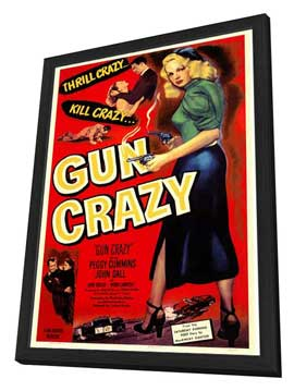 Gun Crazy - 27 x 40 Movie Poster - Style A - in Deluxe Wood Frame