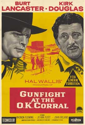 Gunfight at the O.K. Corral - 27 x 40 Movie Poster - Style B