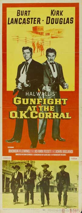 Gunfight at the O.K. Corral - 14 x 36 Movie Poster - Insert Style B