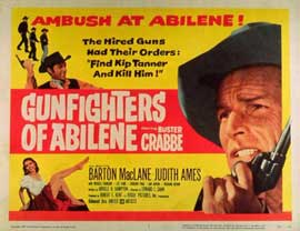 Gunfighters of Abilene - 11 x 14 Movie Poster - Style B