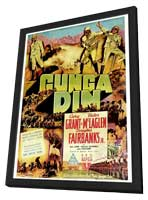 Gunga Din - 11 x 17 Movie Poster - Style F - in Deluxe Wood Frame