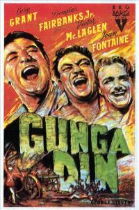 Gunga Din - 27 x 40 Movie Poster - Spanish Style A