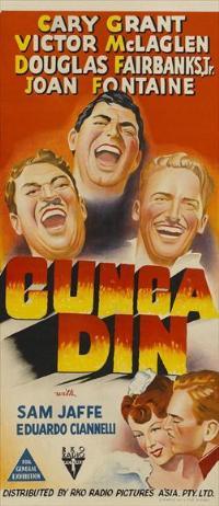 Gunga Din - 13 x 30 Movie Poster - Australian Style A