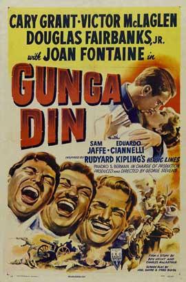 Gunga Din - 27 x 40 Movie Poster - Style D