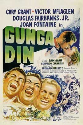 Gunga Din - 27 x 40 Movie Poster - Style E