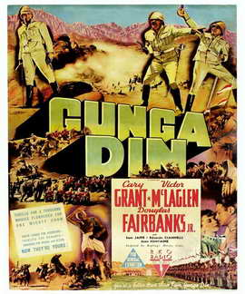 Gunga Din - 11 x 17 Movie Poster - Style F
