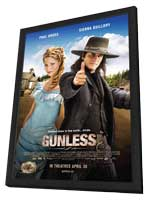 Gunless - 11 x 17 Movie Poster - Canadian Style A - in Deluxe Wood Frame