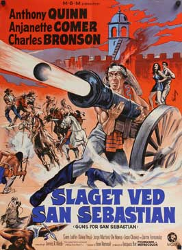 Guns for San Sebastian - 27 x 40 Movie Poster - Danish Style A