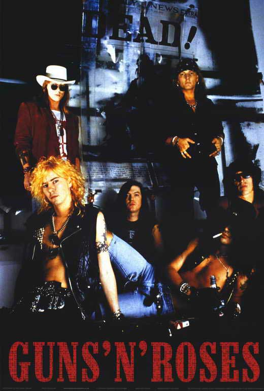 guns n roses movie posters from movie poster shop