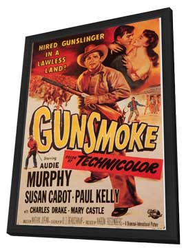 Gunsmoke - 11 x 17 Movie Poster - Style A - in Deluxe Wood Frame
