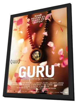Guru Bhagwan, His Secretary & His Bodyguard - 11 x 17 Movie Poster - German Style A - in Deluxe Wood Frame