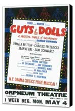 Guys and Dolls (Broadway) - 14 x 22 Poster - Style A - Museum Wrapped Canvas