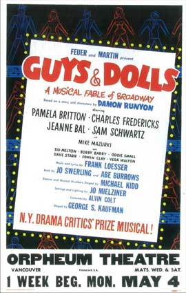 Guys and Dolls (Broadway) - 14 x 22 Poster - Style A