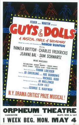 Guys and Dolls (Broadway) - 11 x 17 Poster - Style A