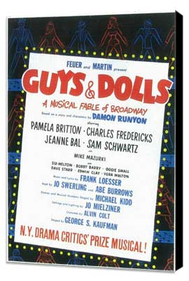Guys and Dolls (Broadway) - 11 x 17 Poster - Style A - Museum Wrapped Canvas