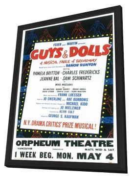 Guys and Dolls (Broadway) - 14 x 22 Poster - Style A - in Deluxe Wood Frame