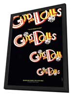 Guys and Dolls (Broadway) - 27 x 40 Poster - Style A - in Deluxe Wood Frame