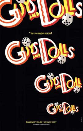 Guys and Dolls (Broadway) - 27 x 40 Poster - Style A