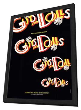Guys and Dolls (Broadway) - 11 x 17 Poster - Style A - in Deluxe Wood Frame