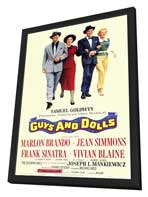 Guys and Dolls - 11 x 17 Movie Poster - Style A - in Deluxe Wood Frame