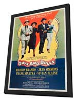 Guys and Dolls - 27 x 40 Movie Poster - Style C - in Deluxe Wood Frame