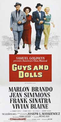 Guys and Dolls - 20 x 40 Movie Poster - Style A