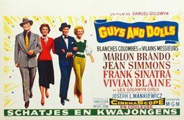 Guys and Dolls - 27 x 40 Movie Poster - Belgian Style A
