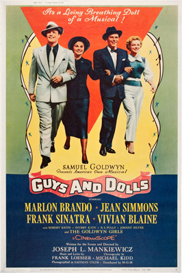 Guys and Dolls - 11 x 17 Movie Poster - Style G