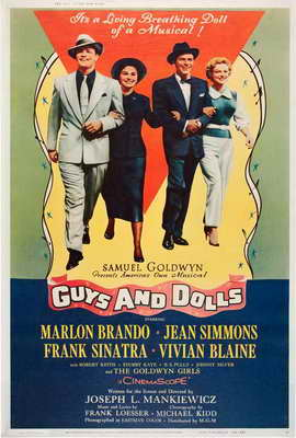 Guys and Dolls - 27 x 40 Movie Poster - Style C