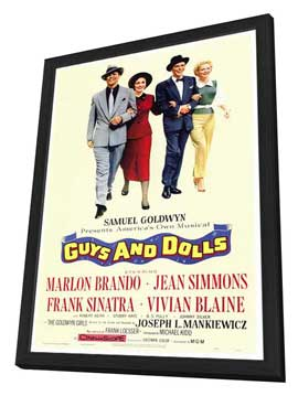 Guys and Dolls - 27 x 40 Movie Poster - Style A - in Deluxe Wood Frame