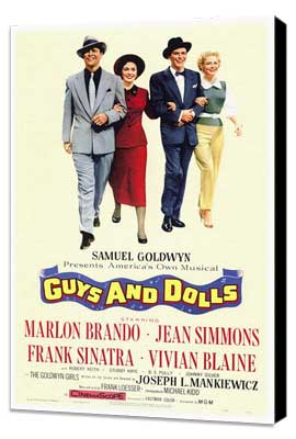 Guys and Dolls - 27 x 40 Movie Poster - Style A - Museum Wrapped Canvas