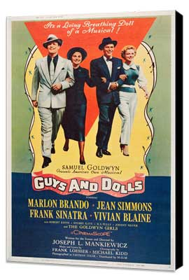 Guys and Dolls - 27 x 40 Movie Poster - Style C - Museum Wrapped Canvas